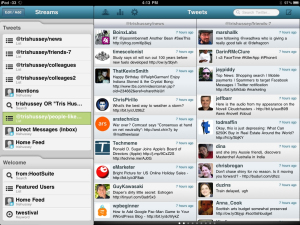 A screen capture of the Hootsuite interface.