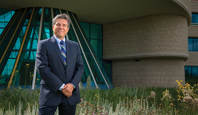 Mark Dockstator is the president of First Nations University.