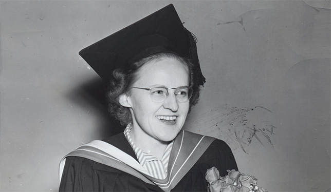Western professor Mary J. Wright was the first woman to be chair of a major psychology department in Canada. She passed away on April 23, 2014.