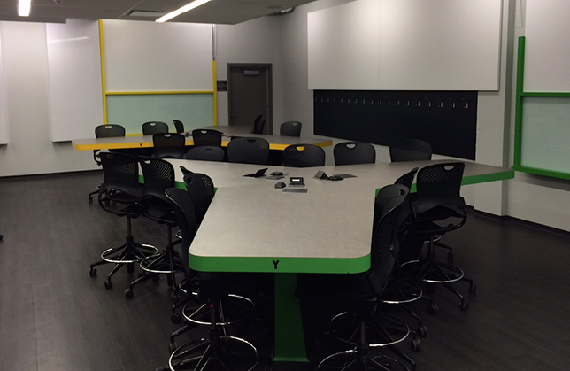 The active learning classroom. Photo by Chris Buddle.