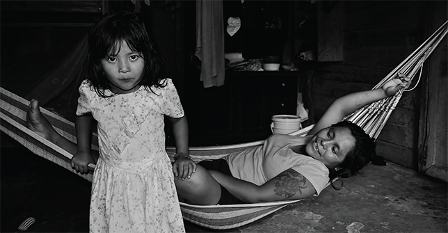 Rachel Phillips Hall's photo of a mother and daughter from a Q'eqchi' Maya community in Belize won the grand prize in the Images of Research contest. Photo by Rachel Phillips Hall.
