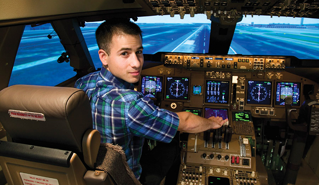 Jonathan Doré graduated from  mechanical engineering program (concentration on aerospace) at Polytechnique Montréal. He is now a test engineer at CAE.