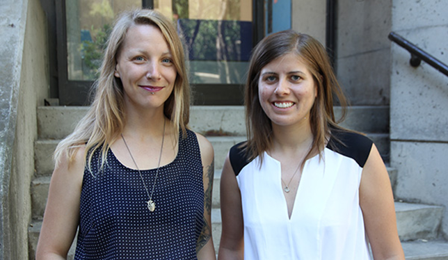 Roxanne Runyon and Bailey Gerrits. Photo courtesy of Queen's University.