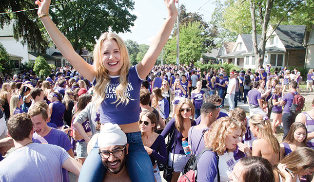 Students flock to Broughdale Avenue for homecoming celebrations in September 2015. Photo courtesy of Derek Ruttan/The London Free Press.