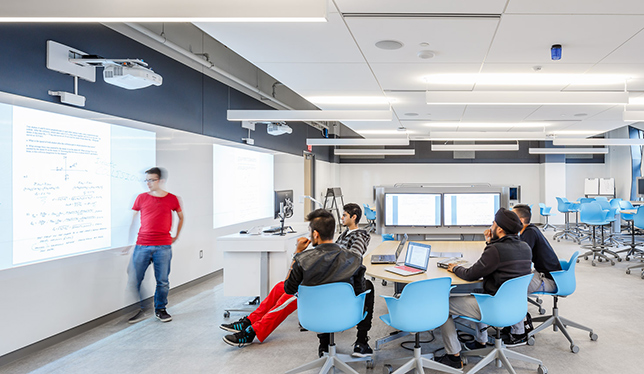 Bergeron Centre for Engineering Excellence, York University. The Bergeron Centre for Engineering Excellence building, which houses the Lassonde School of Engineering, has created quite a buzz for its architecture and flexible learning spaces. Photo courtesy of York University.