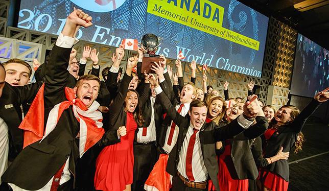 The 2016 Enactus World Champions! Photo courtesy of Enactus Memorial.