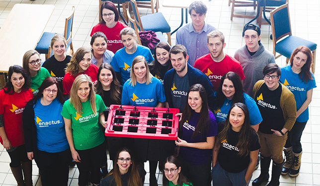The team at Project SucSeed. Photo courtesy of Enactus Memorial.