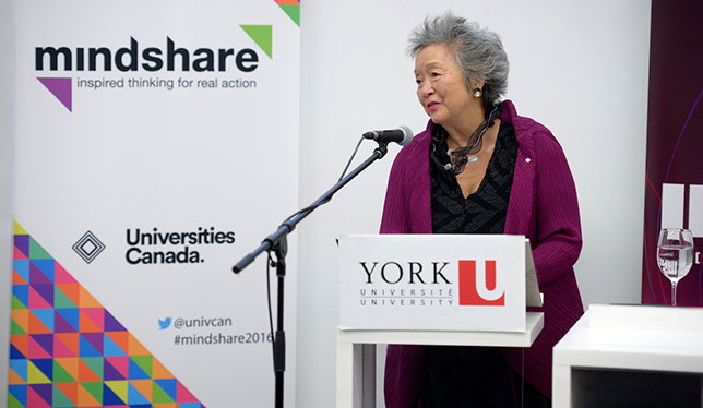 Former Governor General Adrienne Clarkson. Photo courtesy of York University.