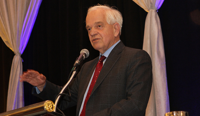 Federal minister of immigration, refugees and citizenship, John McCallum speaking at the CBIE conference in November. Photo by Dan Waters.