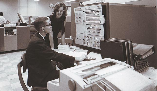 Co-op mathematics students, University of Waterloo in 1965.