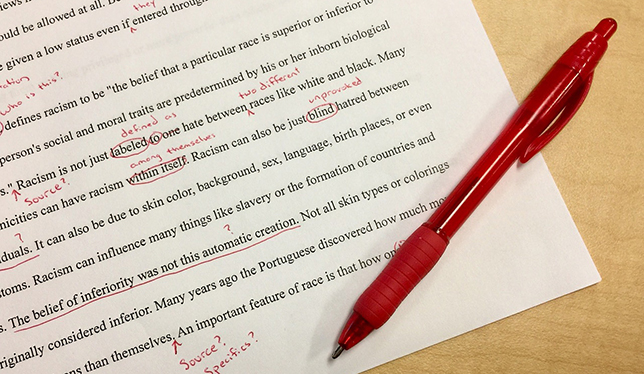 A fine red line: when does editing a student's work become
