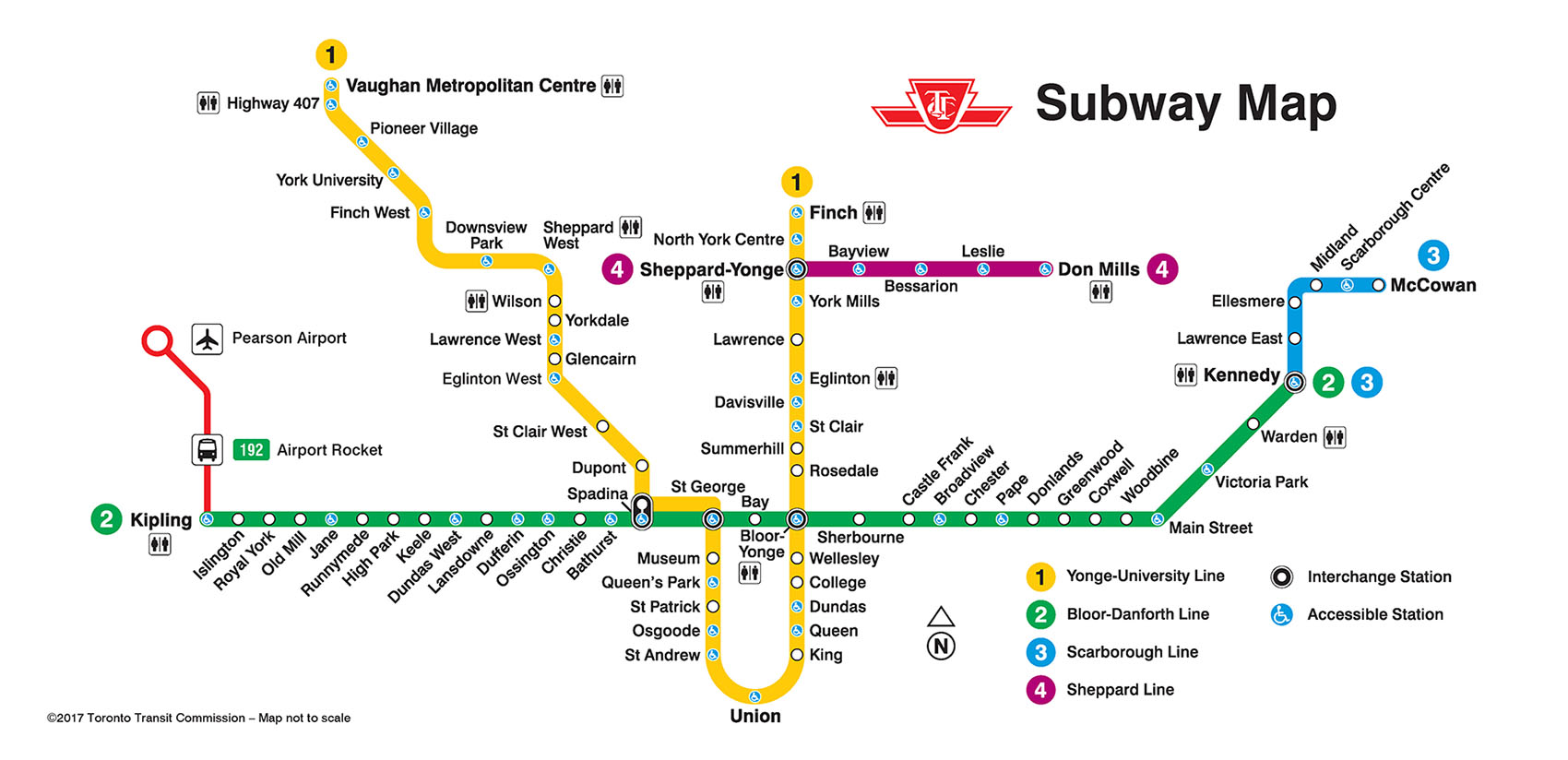 Toronto Bus And Subway Map.Toronto Subway Line Expands To York University University Affairs