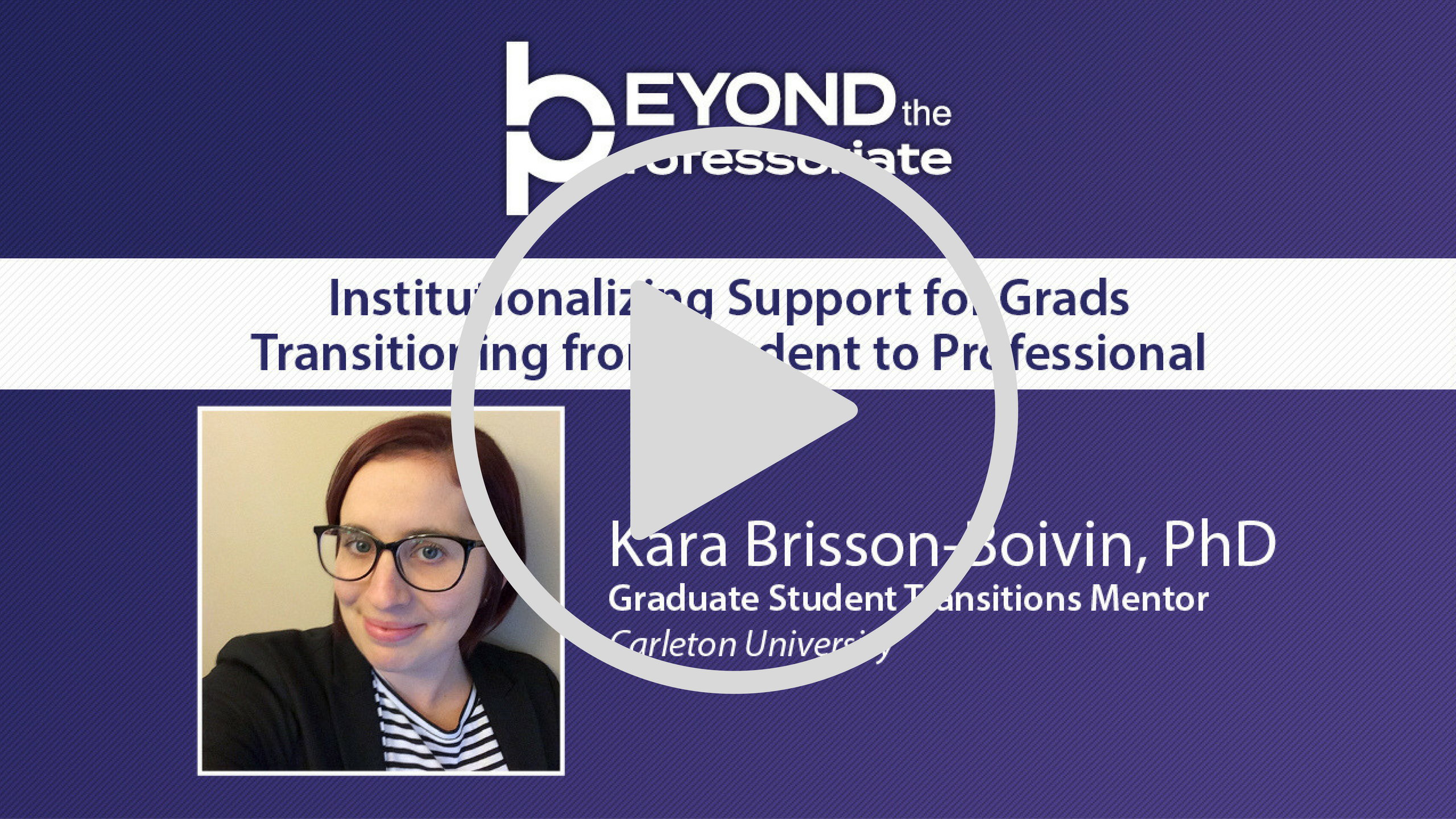Institutionalizing Support for Grads Transitioning from Student to Professional