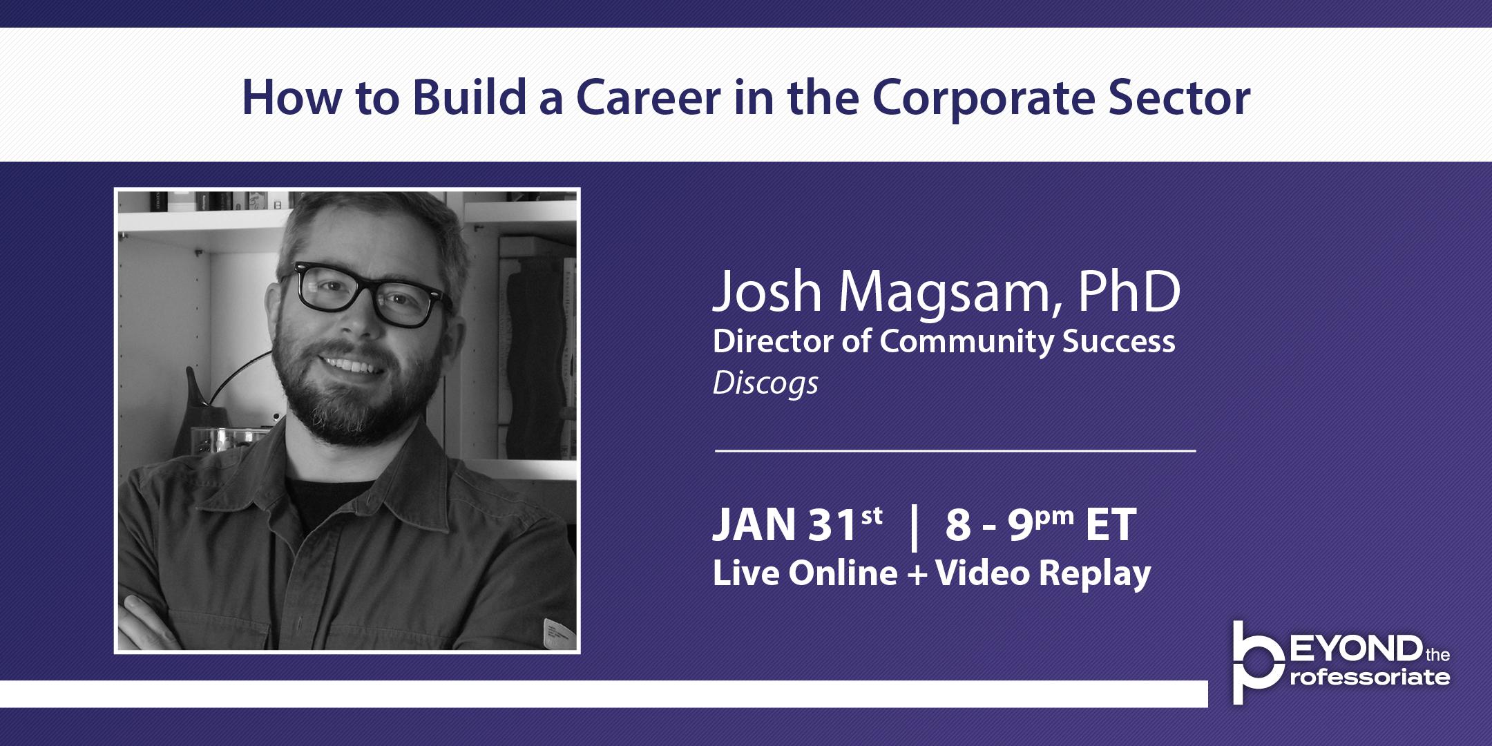 Josh Magsam PhD Beyond the Professoriate