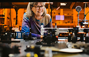 Donna Strickland adjusts to her newfound fame as a research rock star