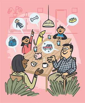 Family economics in the metamorphisis